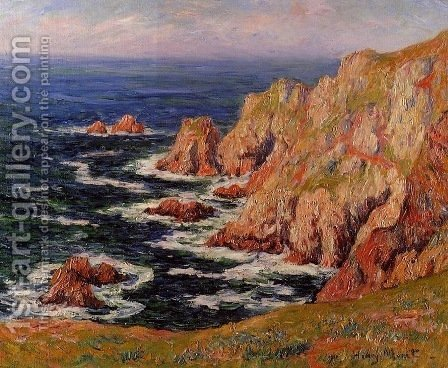 The Coast of Brittany by Henri Moret - Reproduction Oil Painting