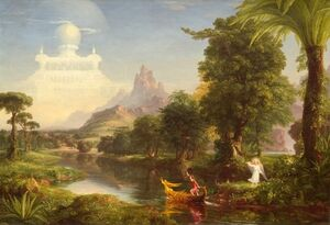 Reproduction oil paintings - Thomas Cole - The Voyage of Life, Youth