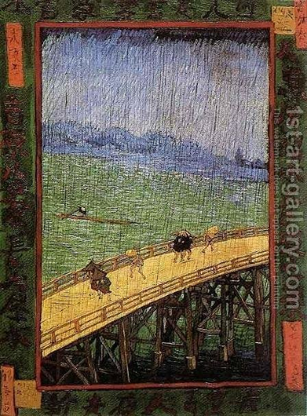Bridge in the Rain by Vincent Van Gogh - Reproduction Oil Painting