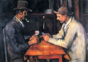 Famous paintings of Card Games: Cardplayers 4