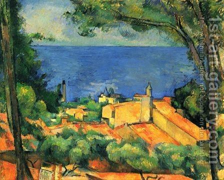 Paul Cezanne: L'Estaque 2 - reproduction oil painting
