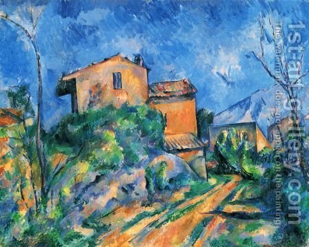 Paul Cezanne: Maison Maria at the way to the Château Noir - reproduction oil painting