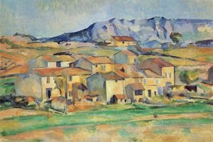 Reproduction oil paintings - Paul Cezanne - Mountain Saint-Vicoire seen from Gardanne