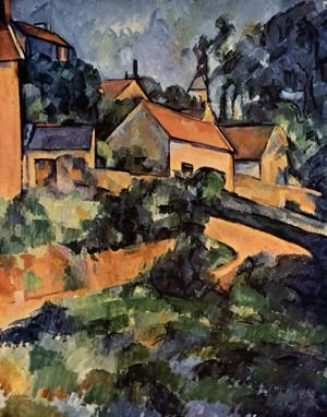 Reproduction oil paintings - Paul Cezanne - Road curve in Montgeroult