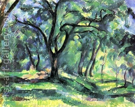 Paul Cezanne: Small forest - reproduction oil painting