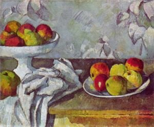 Reproduction oil paintings - Paul Cezanne - Still life with apples and fruit bowl