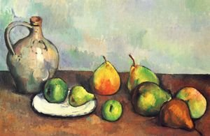 Reproduction oil paintings - Paul Cezanne - Still life, jug and fruits