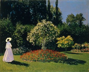 Famous paintings of Trees: Lady In A Garden, 1867