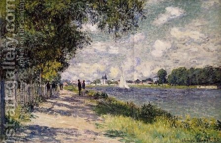 Claude Oscar Monet: The Seine at Argenteuil 4 - reproduction oil painting