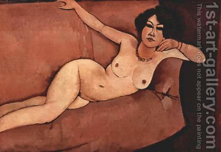 Act on a sofa (Almaiisa) by Amedeo Modigliani - Reproduction Oil Painting
