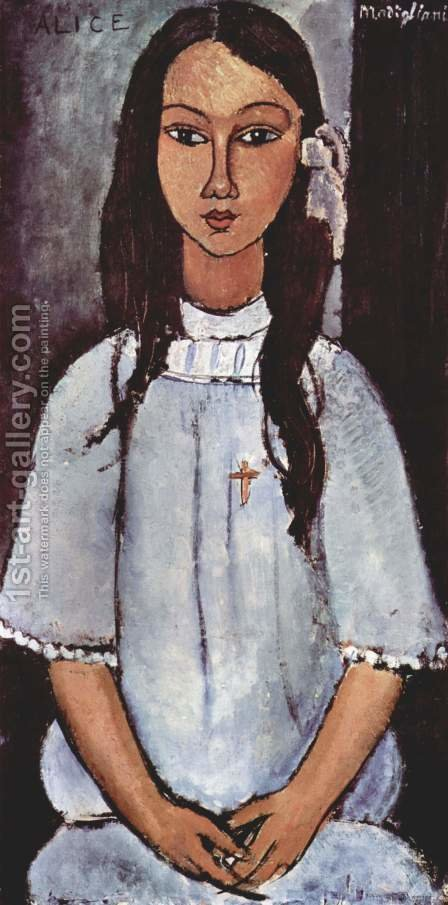 Alice by Amedeo Modigliani - Reproduction Oil Painting