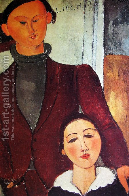 Jacques and Berthe Lipchitz by Amedeo Modigliani - Reproduction Oil Painting