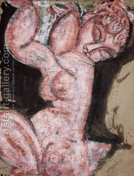 nude caryatid by Amedeo Modigliani - Reproduction Oil Painting