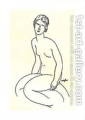 Nude Woman by Amedeo Modigliani - Reproduction Oil Painting