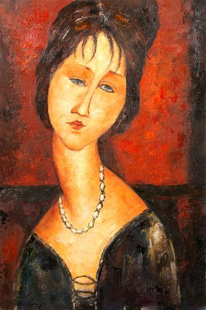 Reproduction oil paintings - Amedeo Modigliani - Portrait of a woman 3
