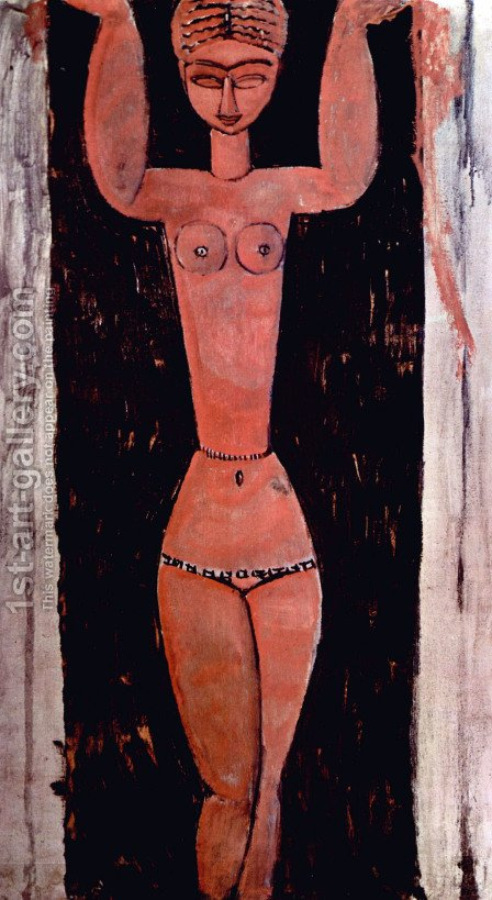 Standing Karyatide by Amedeo Modigliani - Reproduction Oil Painting