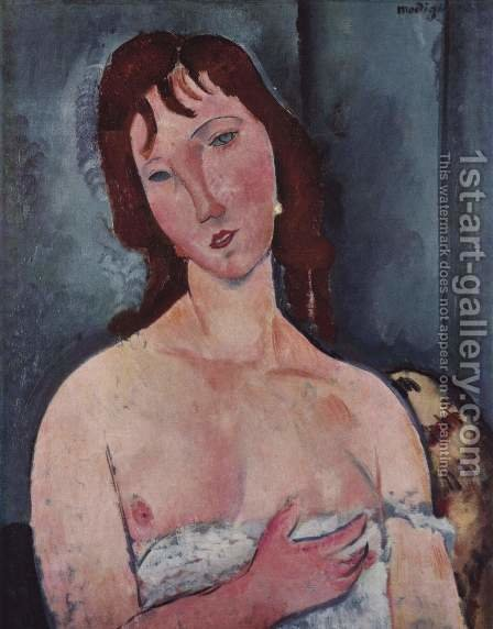 Young Woman by Amedeo Modigliani - Reproduction Oil Painting