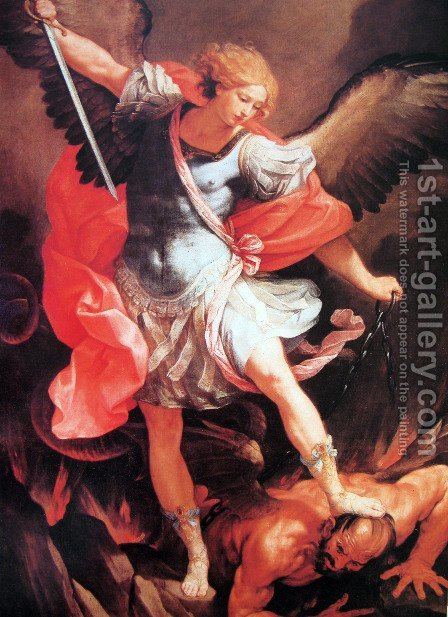 Archangel Michael by Guido Reni - Reproduction Oil Painting