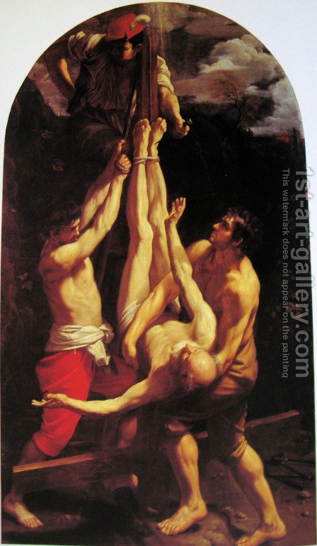 Crucifixion of St. Peter by Guido Reni - Reproduction Oil Painting