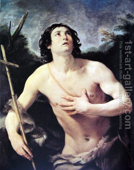 San Giovanni Battista by Guido Reni - Reproduction Oil Painting