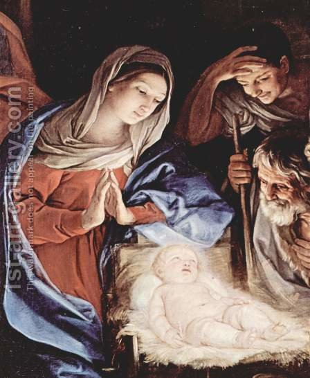Adoration of the Shepherds, detail 1 by Guido Reni - Reproduction Oil Painting