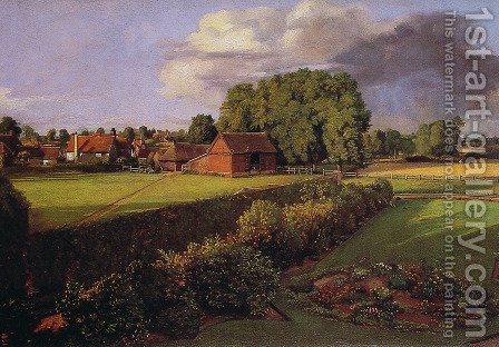 John Constable: Golding Constable's Flower Garden - reproduction oil painting