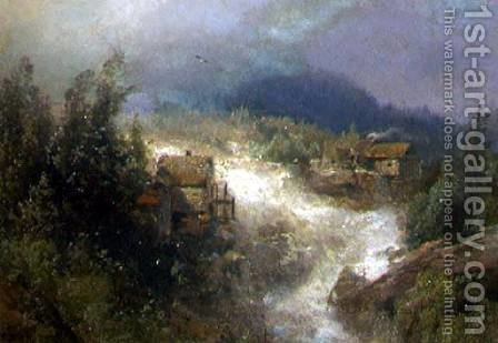 Landscape by Herman Herzog - Reproduction Oil Painting