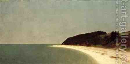 Eatons Neck Long Island by John Frederick Kensett - Reproduction Oil Painting
