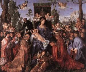 Reproduction oil paintings - Albrecht Durer - Feast of the Rose Garlands