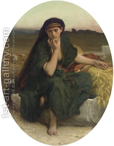 Ruth revenant des champs, Ruth en repos by Alexandre Cabanel - Reproduction Oil Painting