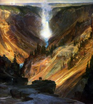 Famous paintings of Trees: The Grand Canyon of the Yellowstone 2