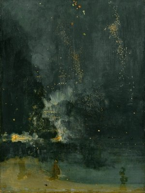 Reproduction oil paintings - James Abbott McNeill Whistler - Nocturne in Black and Gold, The Falling Rocket