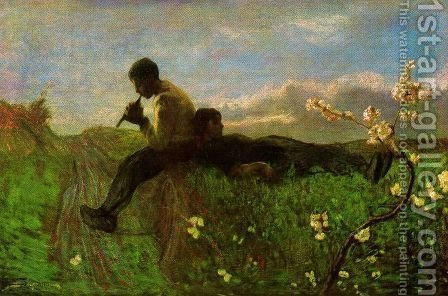 Idillio by Giovanni Segantini - Reproduction Oil Painting