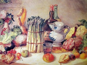 Famous paintings of Cheese : Still life