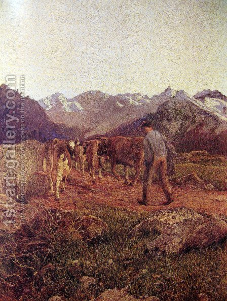 Triptych of nature. The nature by Giovanni Segantini - Reproduction Oil Painting