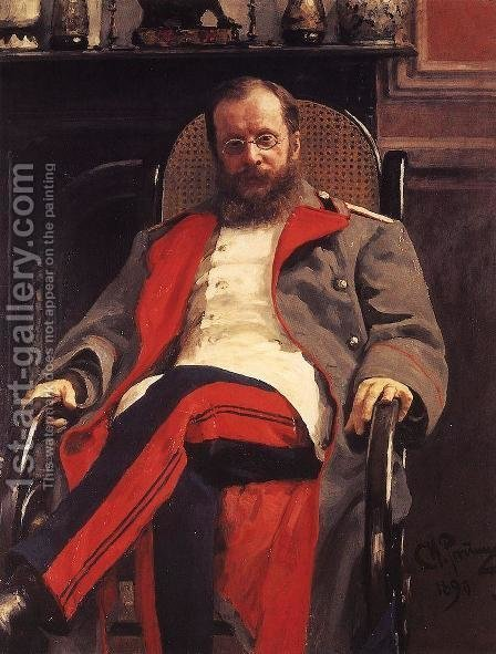 Portrait of Composer Cesar Antonovich Cui by Ilya Efimovich Efimovich Repin - Reproduction Oil Painting