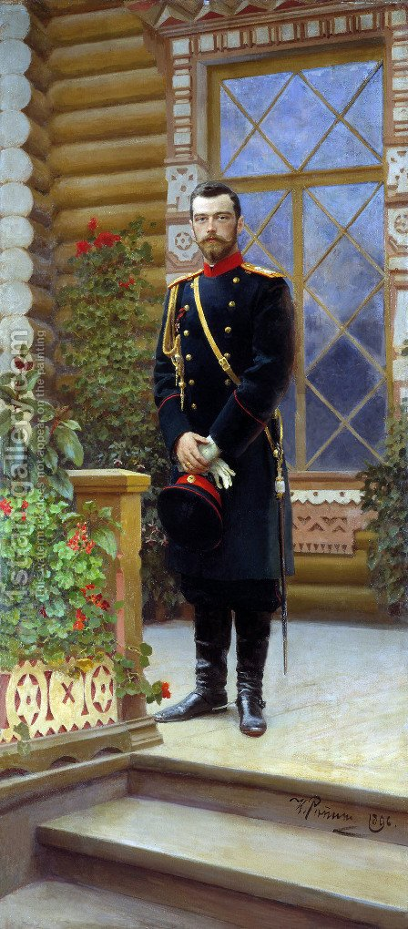 Portrait of Emperor Nicholas II by Ilya Efimovich Efimovich Repin - Reproduction Oil Painting