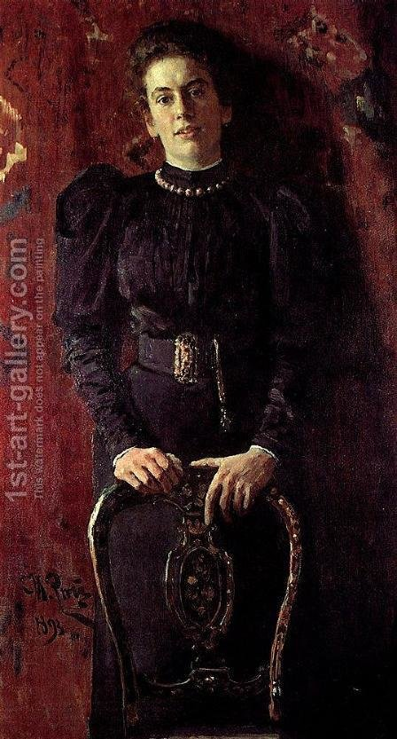 Portrait of Tatiana Lvovna Tolstaya, daughter of the writer by Ilya Efimovich Efimovich Repin - Reproduction Oil Painting