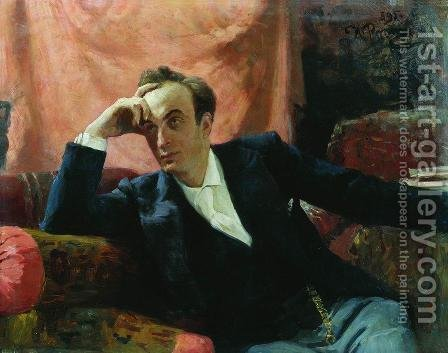 Portrait of actor and dramatist Grigory Grigorievich Ghe by Ilya Efimovich Efimovich Repin - Reproduction Oil Painting