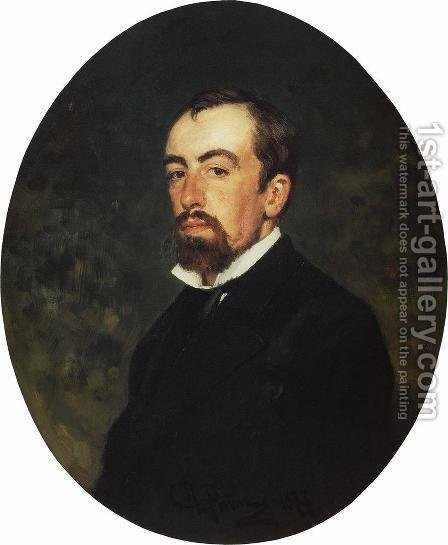 Portrait of painter Vasily Dmitrievich Polenov by Ilya Efimovich Efimovich Repin - Reproduction Oil Painting