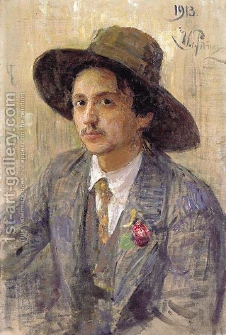 Portrait of the painter Isaak Izrailevich Brodsky by Ilya Efimovich Efimovich Repin - Reproduction Oil Painting