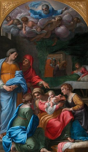 Reproduction oil paintings - Annibale Carracci - The Birth of the Virgin