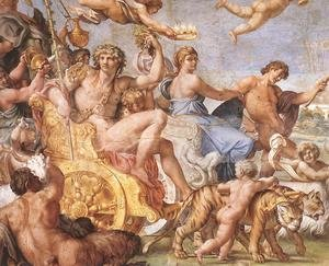 Annibale Carracci reproductions - Triumph of Bacchus and Ariadne (detail)