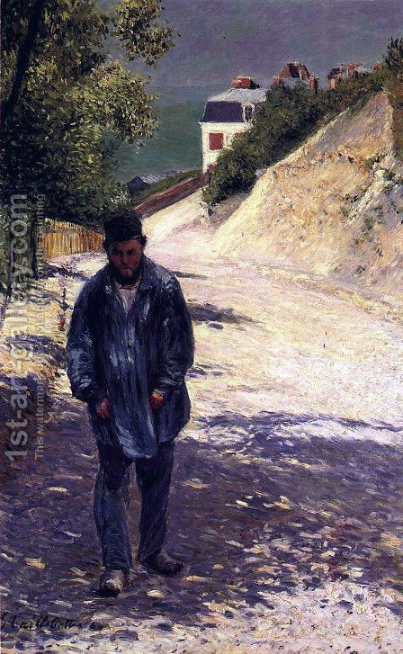 Claude Monet Walking, 1884 by Gustave Caillebotte - Reproduction Oil Painting