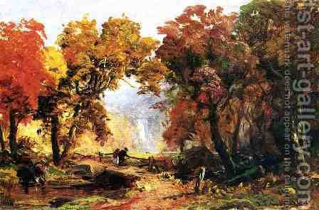 Autumn Landscape 2 by Abbott Handerson Thayer - Reproduction Oil Painting
