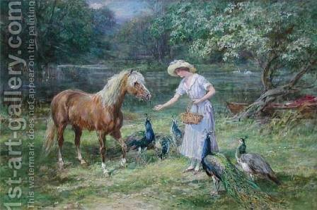 Feeding Time by Heywood Hardy - Reproduction Oil Painting