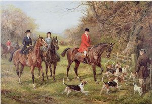 Famous paintings of Horses & Horse Riding: Going for Cover,