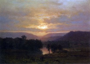 Reproduction oil paintings - George Inness - Sunset 2