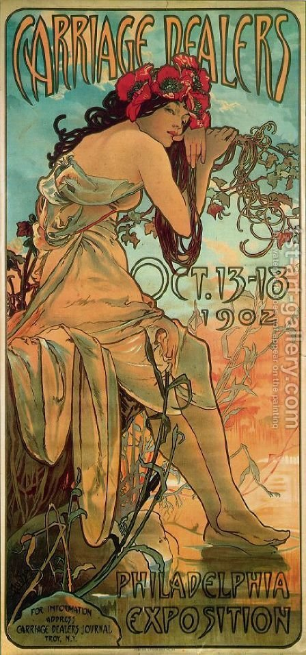 Carraige Dealers by Alphonse Maria Mucha - Reproduction Oil Painting