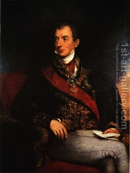 Klemens Wenzel von Metternich (1773-1859), German-Austrian diplomat, politician and statesman by Sir Thomas Lawrence - Reproduction Oil Painting